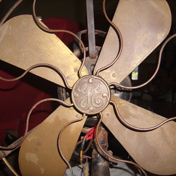"""Early 1900s GE 16"""" brass fan & cage - Tools and Hardware"""