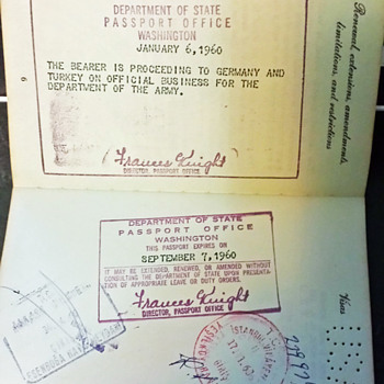 Uprated US Official passport