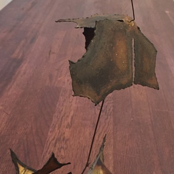 Mid Century Modern Leaves Decor- signature help please - Mid-Century Modern