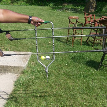 Was told this was a Antique Golf Club Carrier??/ No MFG. marks - Sporting Goods