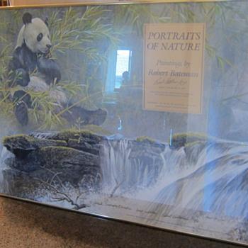 Robert Bateman  -  Portraits of Nature - Giant Panda  -  Signed Gallery Poster