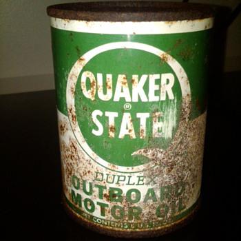 Quaker State outboard oil - Petroliana