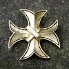 Crown Trifari Maltese Cross Brooch