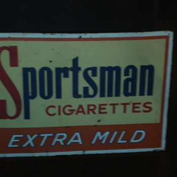 VINTAGE SPORTSMAN CIGARETTES ADVERTISING SIGN! NICE!