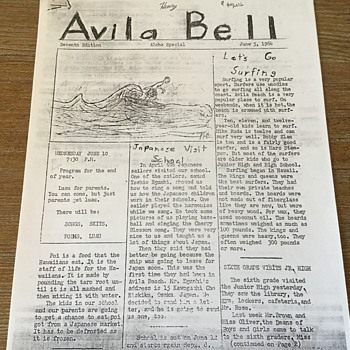 """AVILA BELL"" school newspaper as promised - Paper"