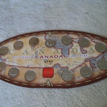 1999 Canada Millennium Quarter Coin Set
