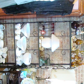 Mushroom murano verti lamp and milk glass collection - Glassware