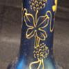 Loetz Blue Melusin Vase with Applied Enamel Decoration?