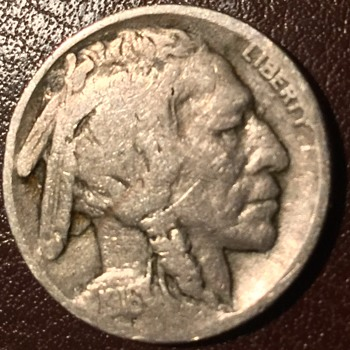 1916 double feather buffalo nickel - US Coins