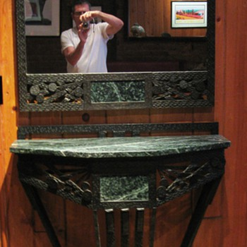 1930's French Console and Mirror - Furniture