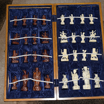 Vintage Chinese Chess Set origin unknown - Games