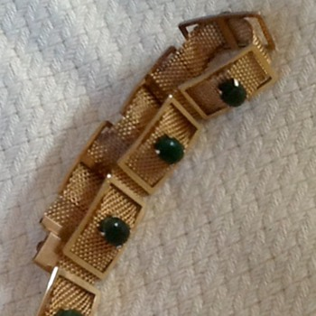 Krementz scarab bracelet - Costume Jewelry