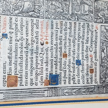 Antique Leaf from Book Of Hours - Books