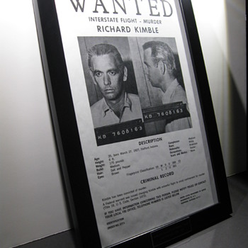 THE FUGITIVE  .  .  . Original Wanted Poster