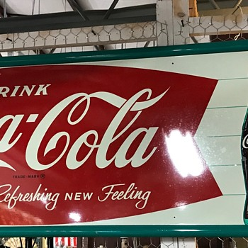 Coca Cola sign ? Is this a reproduction sign ? Help !! - Coca-Cola