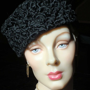 Classic 50s Cossack Mouton Pillbox - Hats