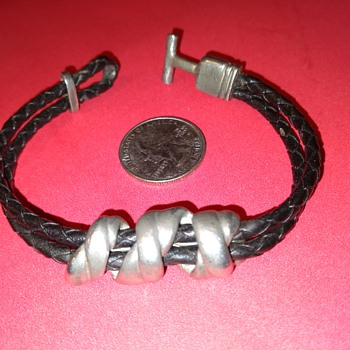 leather and metal bracelet - Fine Jewelry
