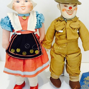 WW2 Unica Liberation of Belgium and Holland Novelty Dolls - Dolls