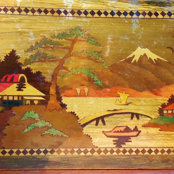 Inlaid Vintage Japanese Puzzle Box, Over 100 correct moves to open!!! - Asian