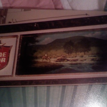 1970's motorized Lone Star Beer Sign picture of Pedernales River - Signs