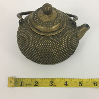 Recently acquired antique teapot; would love help with origin - Asian