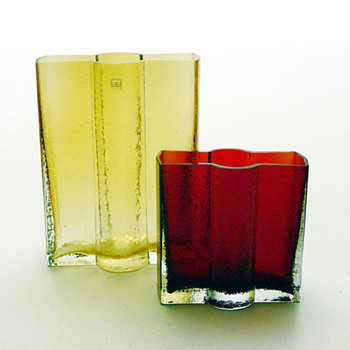 RAILLO vases, Nanny Still (Rihimäki Lasi, 1973) - Art Glass