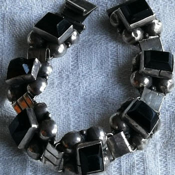 Vintage mexican silver bracelet from about 1930's - 1940's - Fine Jewelry