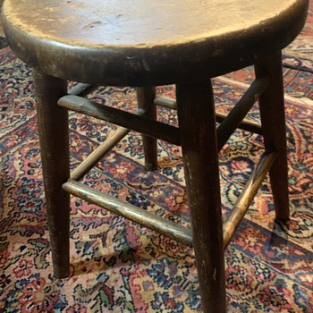 Antique Heywood Wakefield - San Francisco - Stool - Furniture