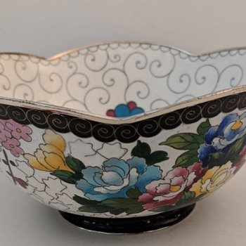 Cloisonne Bowl - Japanese or Chinese?  Marked - Asian