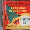 Vintage Christmas tree lighting set.