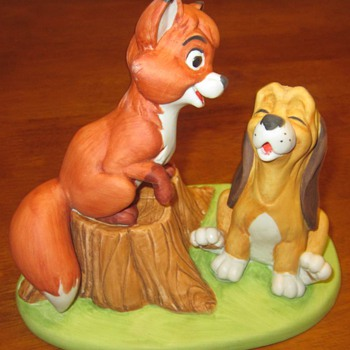 The Fox and the Hound - 1980 Sculpture - Made For Disneyland & Walt Disney World