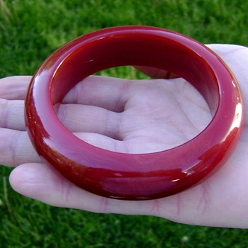Lucite Bangle Bracelet - Costume Jewelry