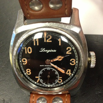 Vintage Longines Military Watch