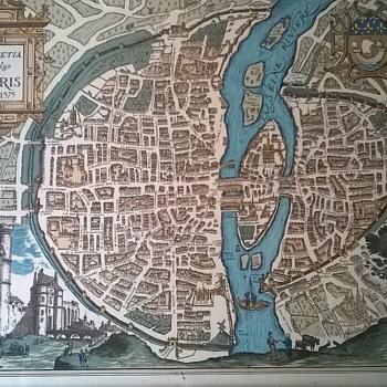 Engraving (?) Lutetia Vulgo Paris Anno-1575  LANA Anno 1590 - Fine Art