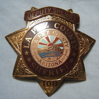 LA PAZ COUNTY DEPUTY SHERIFF STAR BADGE
