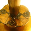 Unusual Vintage Wendell August Solid Bronze Geometric Art Deco Candle Holders