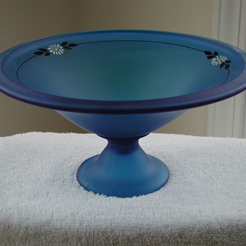 This compote came from an estate fifty years ago - Art Glass
