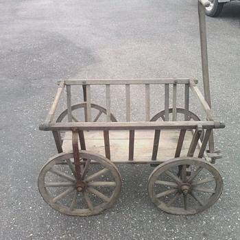 1900's Pumpkin Hay Goat Cart From Germany (ALL ORIGINAL) - Furniture