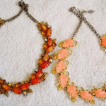 Here comes the Autumn! Vintage Necklaces