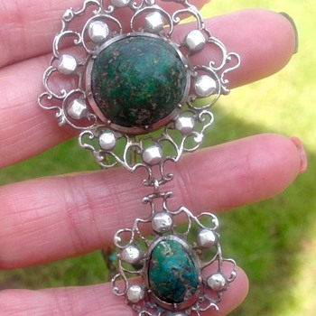 Silver and Turquoise Necklace - Fine Jewelry