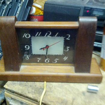 Lackner Neon Glo wooden clock - Clocks