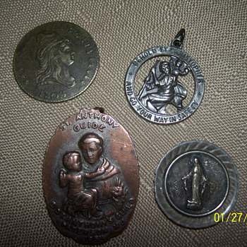 1803 kettle?coin /1830 mother of mary - Fine Jewelry