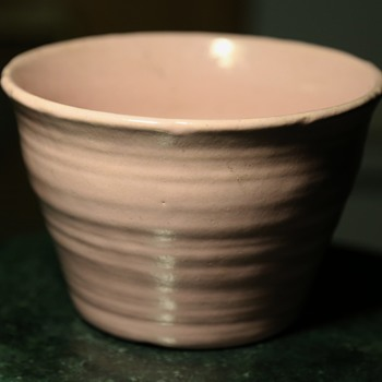 One of a pair of pink flower pots - Pottery