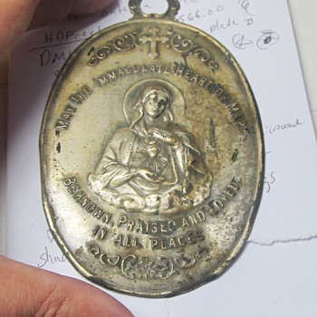 Mother Mary large metal piece  - Medals Pins and Badges