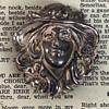 Silver top brooch