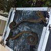 Antique cast iron hooks