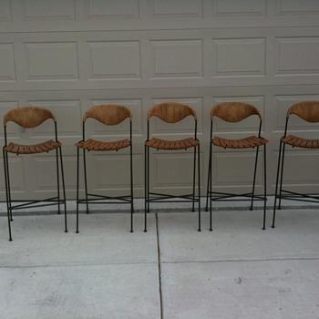 Arthur Umanoff Cast Iron Mid-century Barstool                         - Furniture