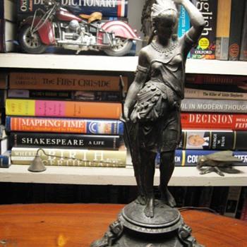 Native American Figure Antique Lamps  - Lamps