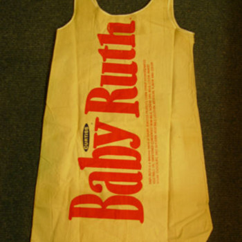 Vintage paper Baby Ruth dress 1960s