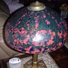 Czech Lamp with Black Paint Overlay